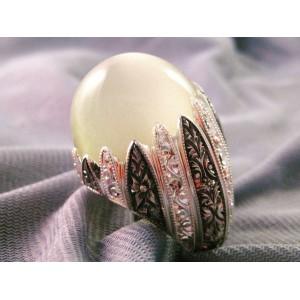 İncitanem Nurullah Daştan Usta Aytaşı Özel Tasarım Kalemişi Gümüş Yüzük