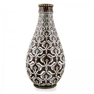 Kahverengi İznik Çini Vazo - M. Gürsoy Koleksiyonu