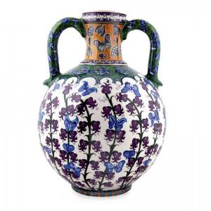 Kuluplu İznik Çini Vazo Hediyelik - M. Gürsoy Koleksiyonu