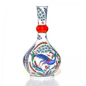 İznik Çini Vazo-Tavus Kuşu  M. Gürsoy Koleksiyonu