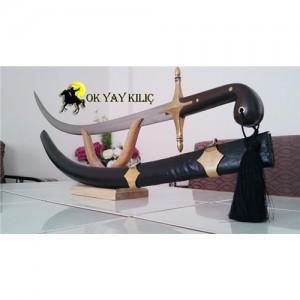 Usta İşi Dövme Çelik-Şimşir Kılıcı