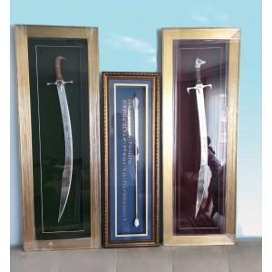 3'lü Hedyelik Tablo Kılıç-Ok Seti