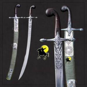 Osmanlı Yalmanlı Pala Kılıcı + Yeşil Kın