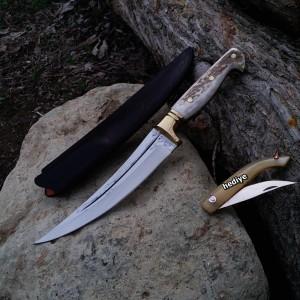 Geyik Boynuzlu Avcı Bel Bıçağı