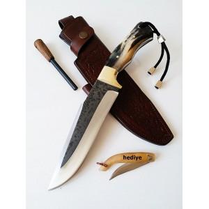 Dövme Kamyon Makas Çeliği Kamp Avcı Bıçağı (10 Numara 5 Yıldız)