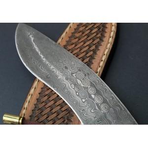 Damascus Kukry - Pala Avcı Bıçağı (Koleksiyonerlerin İlgi Odağı)
