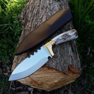 Geyik boynuzu Doğa ve Avcı Bıçağı